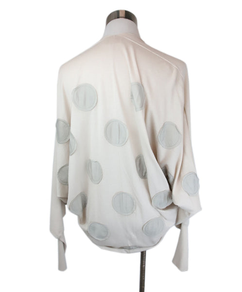 Lanvin Neutral Mauve Cotton Silk Polka Dots Sweater 3