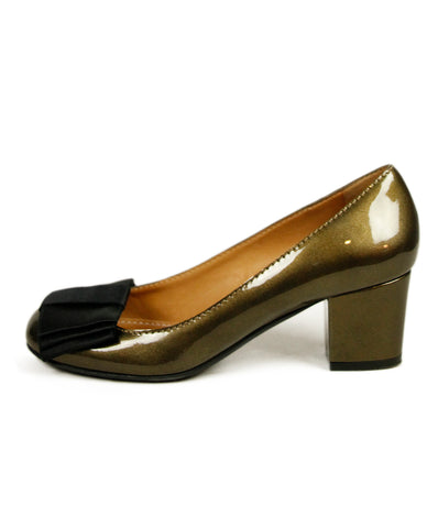 Lanvin Olive Patent Leather Shoes 1