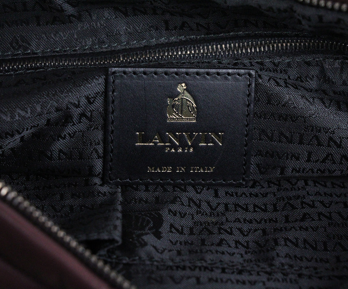 Lanvin Purple Plum Leather Shoulder Bag 7