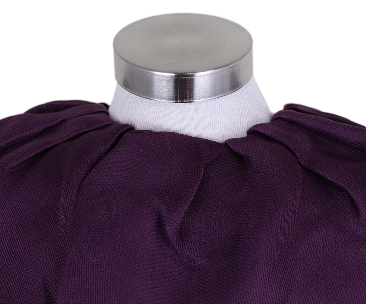 Lanvin Purple Silk Ruffle Blouse 7