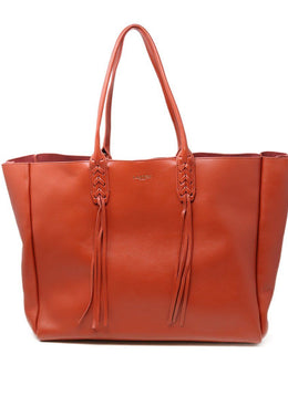 Lanvin Red Lambskin Large Shopper Tote
