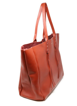 Lanvin Red Lambskin Large Shopper Tote 1
