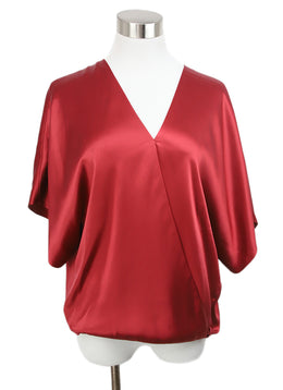 Lanvin Red Silk Blouse 1