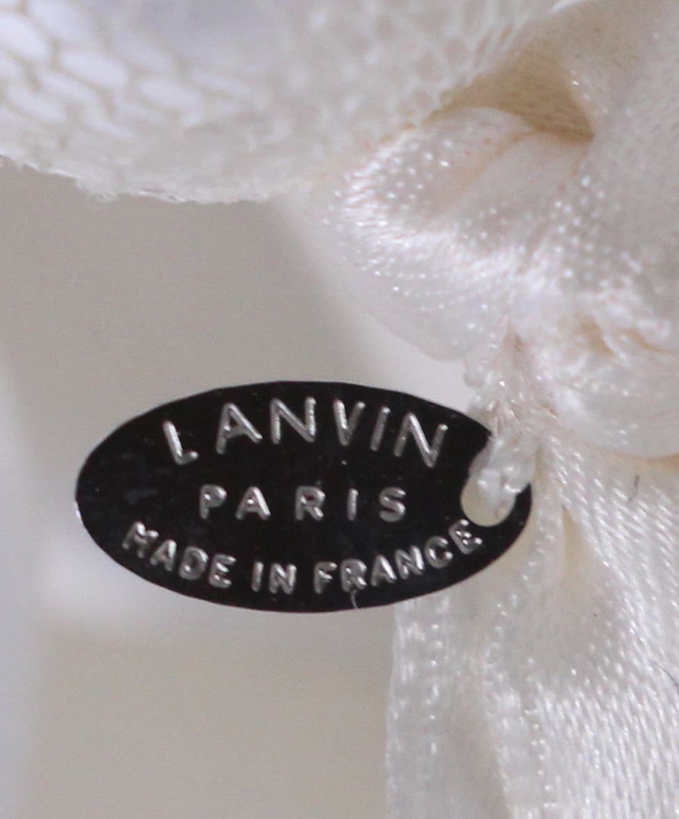 Lanvin White Beaded Ribbon Necklace 4