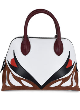 Lanvin White Red Black Burgundy Handbag 1
