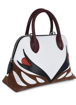 Lanvin White Red Black Burgundy Handbag 2