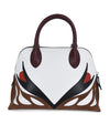 Lanvin White Red Black Burgundy Handbag 3