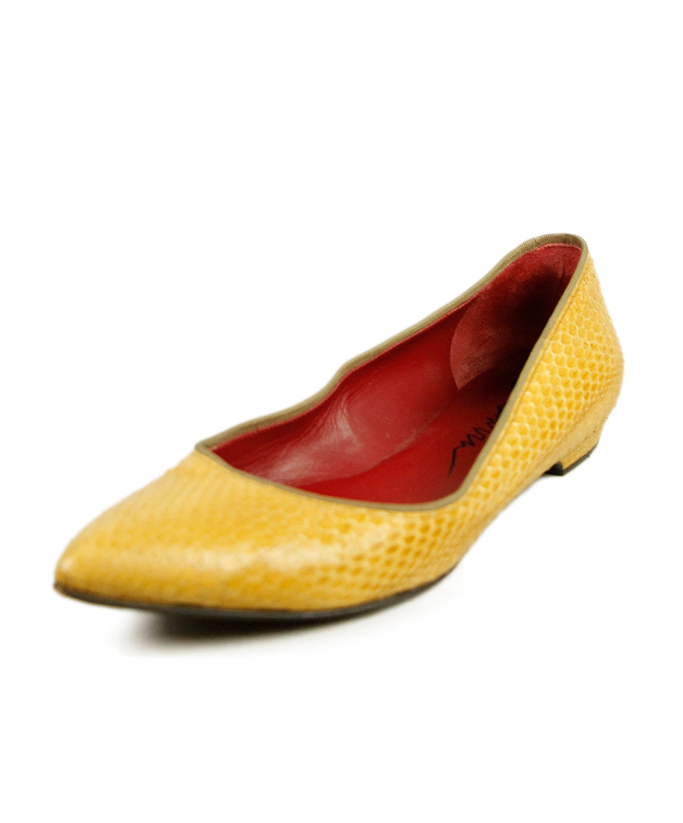 Lanvin Yellow Python Shoes 1