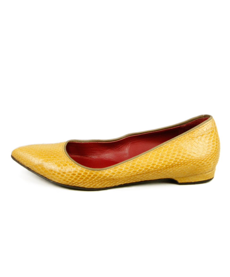 Lanvin Yellow Python Shoes 2