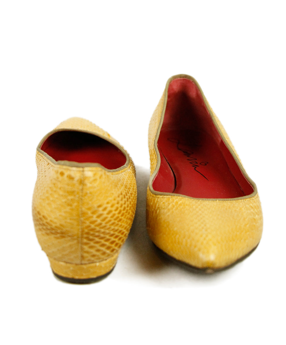 Lanvin Yellow Python Shoes 4