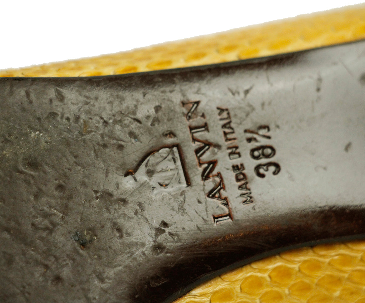 Lanvin Yellow Python Shoes 6