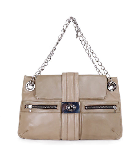 Chanel Neutral Beige Rhinestone Shoulder Handbag