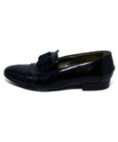Lanvin Black Leather Grosgrain Bow Flats 1