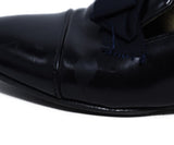 Lanvin Black Leather Grosgrain Bow Flats 8