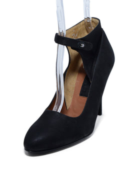 Lanvin Black Leather Heels 1