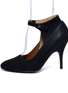 Lanvin Black Leather Heels 2