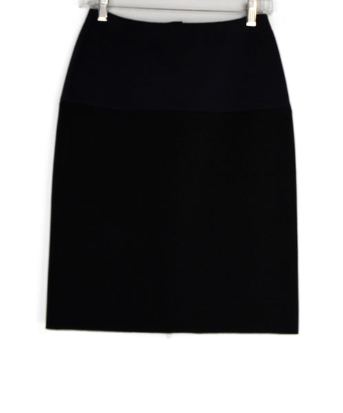 Lanvin Black Navy Polyamide Skirt 1
