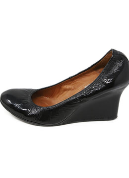Lanvin Black Patent Leather Wedges 2