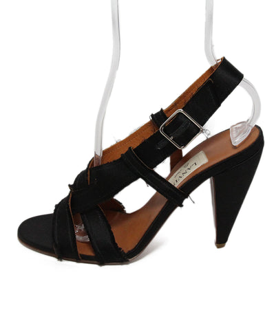 Lanvin Black Silk Shoes 1