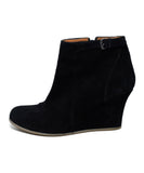 Lanvin Black Suede Wedge Booties 2