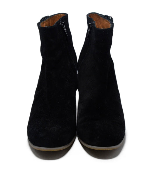 Lanvin Black Suede Wedge Booties 4