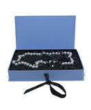 Lanvin Black White Pearls Beaded Silver Metal 6 Strand Necklace 5