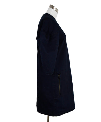 Lanvin Dark Blue Denim Dress 1
