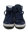 Lanvin Blue Navy Leather High Tops Shoes Sneakers 4
