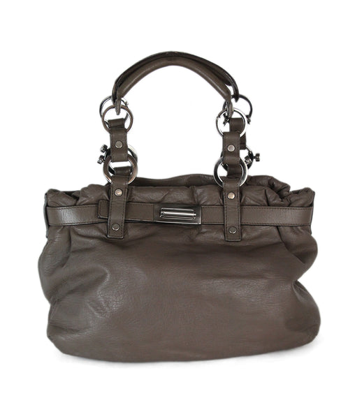 Lanvin brown taupe leather satchel 1