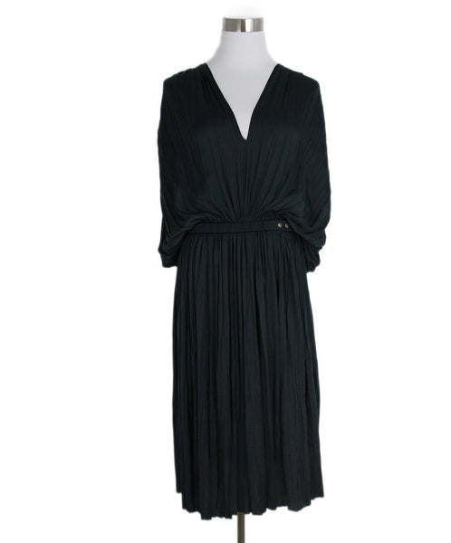 Lanvin green pleated dress 1