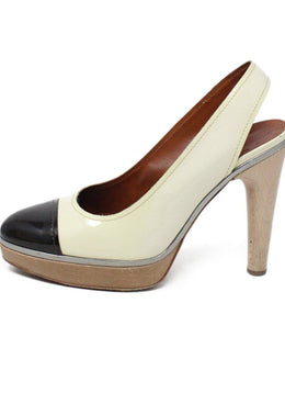 Lanvin Ivory Brown Patent Leather Heels 2