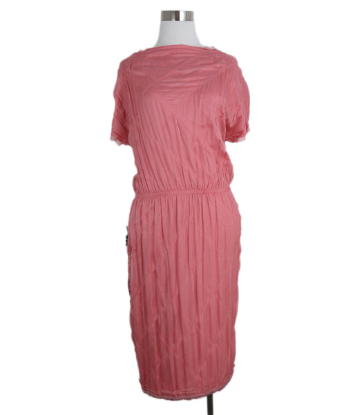 Lanvin pink silk dress 1