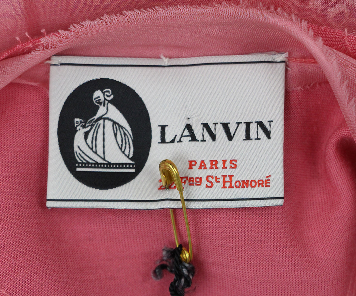 Lanvin pink silk dress 4