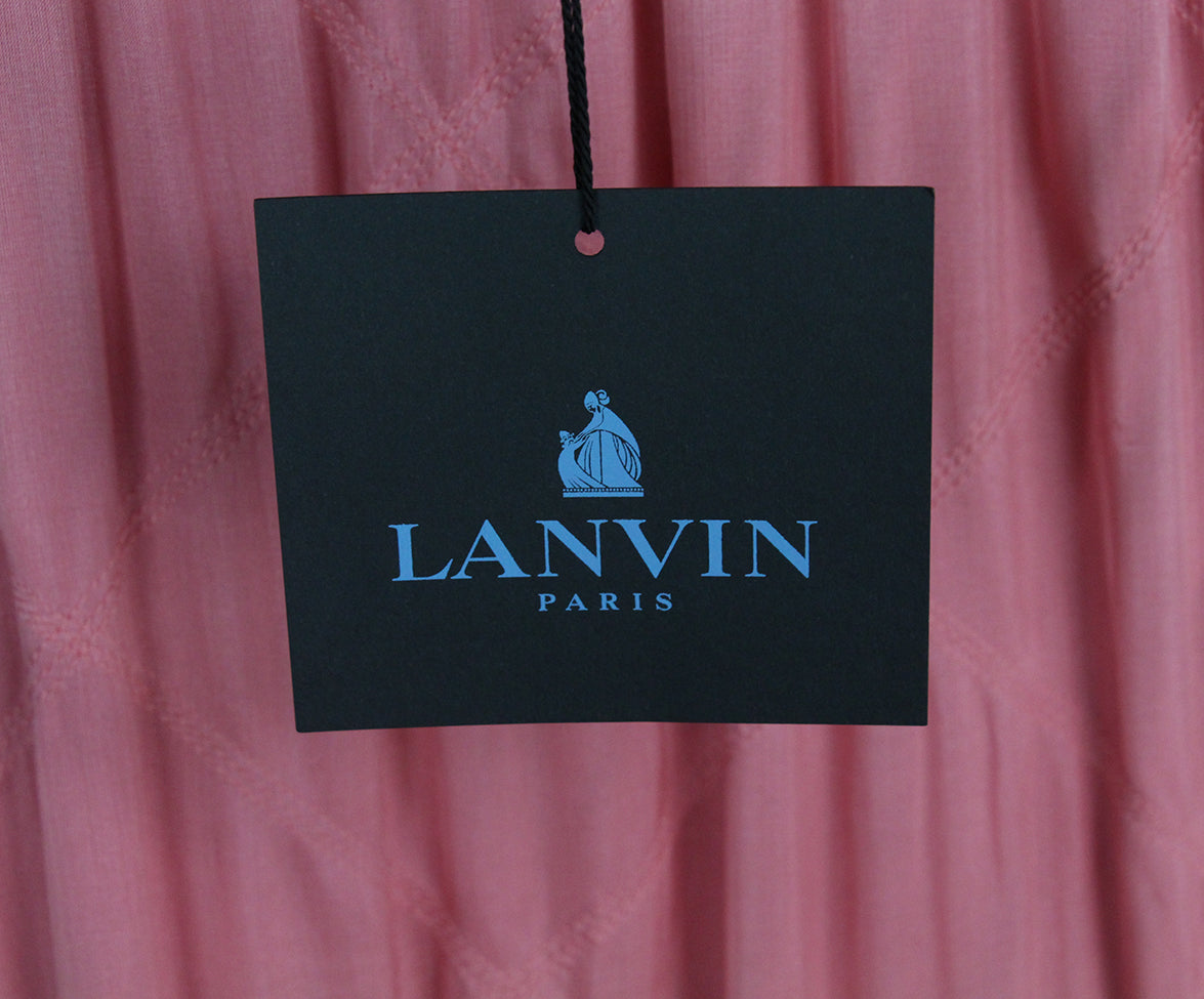 Lanvin pink silk dress 5