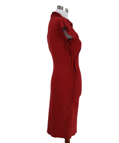 Lanvin red wool dress 1