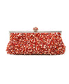 Larisa Barrera Red Coral Beaded Clutch 3