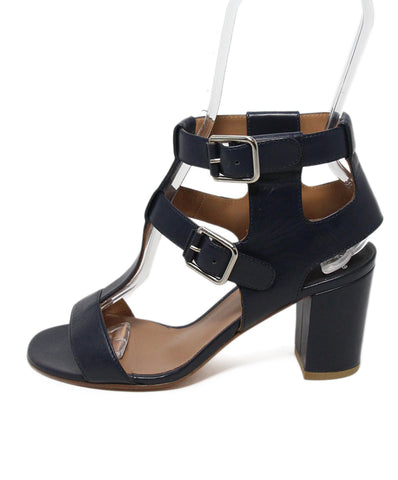 Laurence Dacade blue navy leather sandals 1