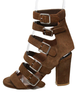 Laurence Dacade Brown Suede Sandals Heels 2