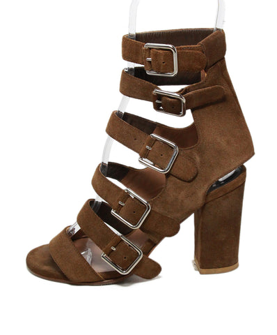 Laurence Dacade Brown Suede Sandals Heels 1