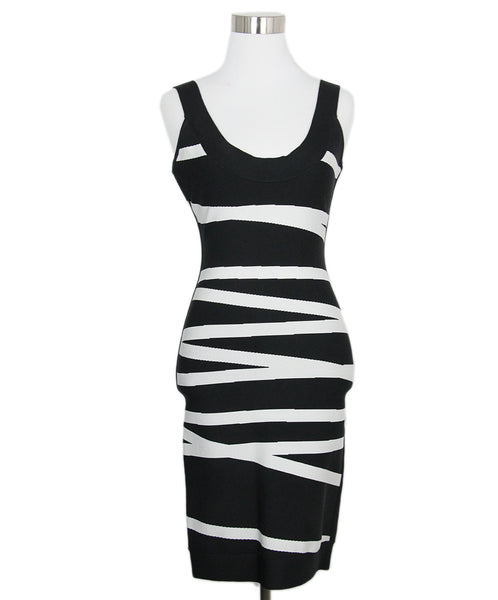 Leger Black White Rayon Dress 1