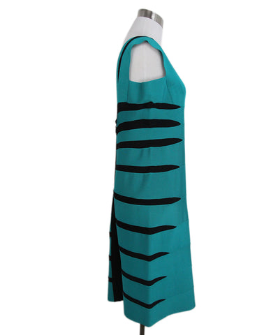 Leger teal black dress 1