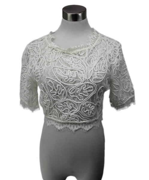 Leith White Lace Top 1