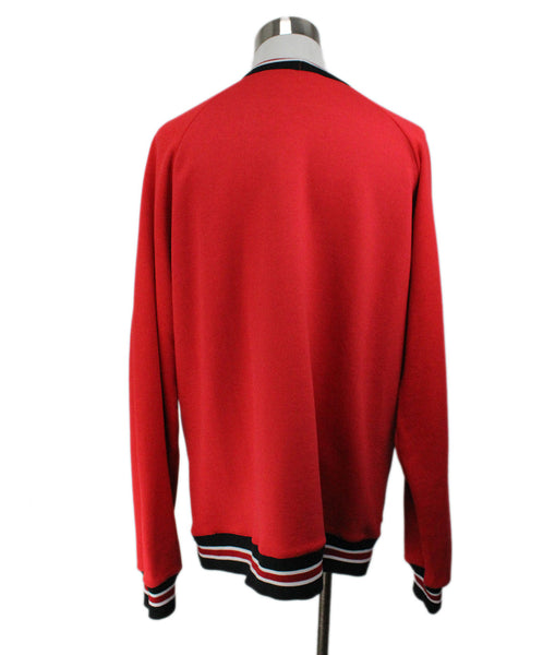 Leitmotiv Red Pullover Sweater with Smiley Face Graphic 3