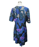 Lela Rose Black Multi print Silk Dress 3