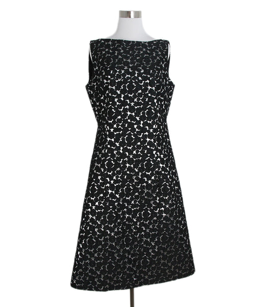 Lela Rose black silver dress 1