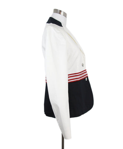 Les Copains white red navy cotton jacket 1