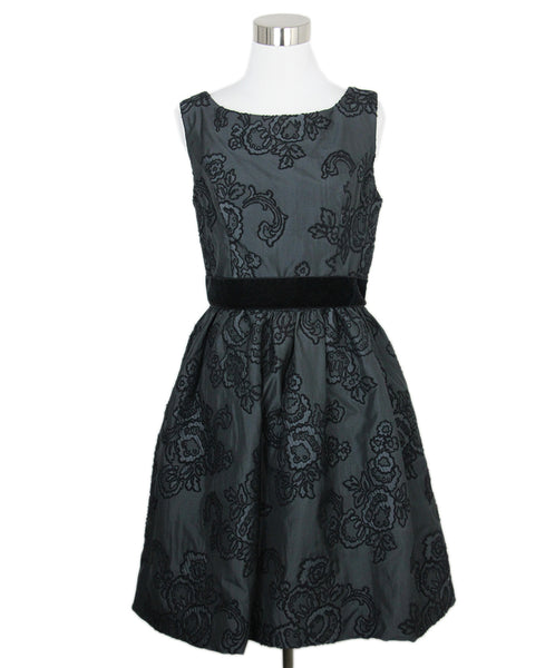 Lhuillier Black Wool Embroidery Dress 1