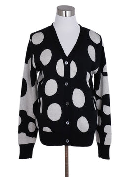 Libertine Black White Polka Dots Cashmere Cardigan Sweater 1