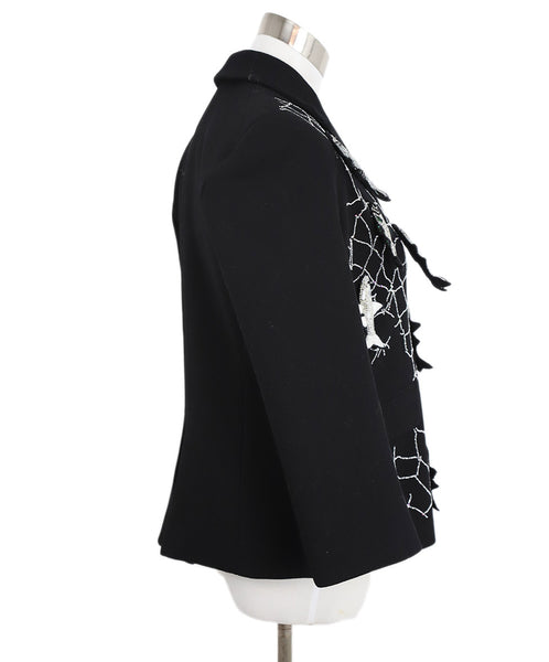 Libertine Black Jacket with Silver and Gold Fish Embellishments 2