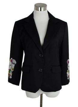 Libertine Lucky Cat Crystal Embellished Black Jacket sz. 4 | Libertine